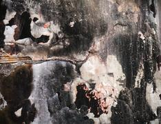 Grunge wall with peeling paint,great background or  texture design - stock illustration