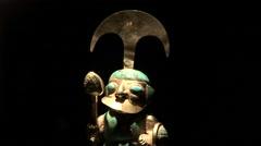 Gold Decoration of Incas, Peru Stock Footage