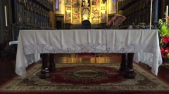4k Altar tilt up Cathedral of Funchal Madeira Stock Footage
