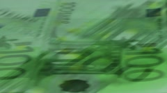 lot of 100 euro banknotes - stock footage
