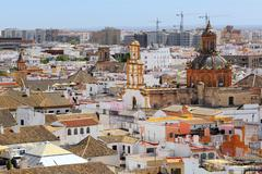 Santa Cruz church from La Giralda Tower of Cathedral, Seville, Andalusia, Spa Stock Photos