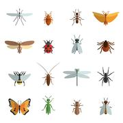 Stock Illustration of Insect Icon Flat