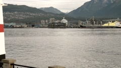 North Vancouver from Prospect Point Stanley Park Stock Footage