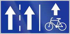Stock Illustration of Bike Lane On The Right In Poland
