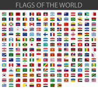 World flags vector Stock Illustration