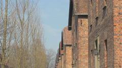 The Auschwitz blocks today Stock Footage