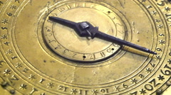 An ancient clock in gold plate Stock Footage