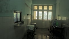 Surgical room of hospital Stock Footage