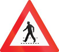 Crossing With Priority in Austria Stock Illustration