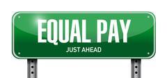 Equal pay road sign illustration design Stock Illustration