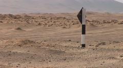 Desert of the Paracas National Park, Peru Stock Footage