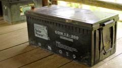Solar power battery Stock Footage