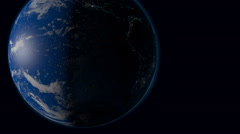 Approximation of the Earth from space Stock Footage