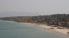 Western coast of Sicily, Italy Panorama Stock Footage
