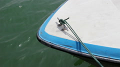 Yacht anchored at dock Stock Footage
