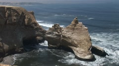 Cathedral (Rock formations) in Peru (Paracas) - stock footage