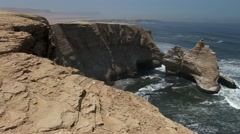 Cathedral (Rock formations) in Peru (Paracas) Stock Footage