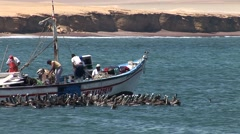 Fishing Boat in Peru (Paracas) Stock Footage