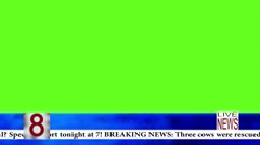 Live News With Ticker Graphic-Loopable Stock Footage