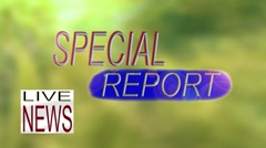 Live TV News Special Report Graphic Stock Footage