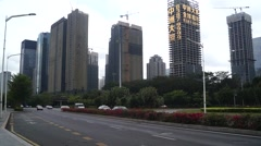Shenzhen Shennan Road Traffic and landscape Stock Footage