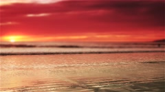 Sunset Beach 2 clips - 2 color tones 1.13 mins - stock footage