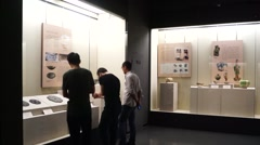 Shenzhen Museum: China Han Dynasty cultural relics exhibition Stock Footage