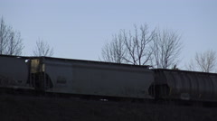 CN (Canadian National Railway) train, 4k footage Stock Footage