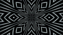 Abstract loop motion black background, white light Stock Footage