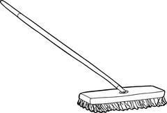 Push Broom Illustration - stock illustration