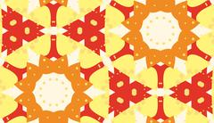 Symmetrical Snowflake Pattern Stock Illustration