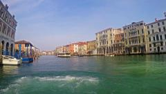 4K timelapse shot POV of Complete Grande Canal ride in Venice Italy Stock Footage