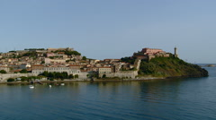 Elba - Portoferraio from the sea Stock Footage