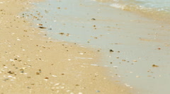 Sea Waves over Sand Beach Holiday Background HD Stock Footage
