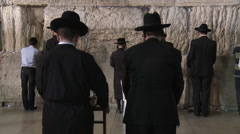 Wailing Wall in Jerusalem Stock Footage