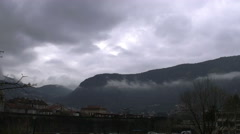 Storm clouds over Kotor old city time lapse Stock Footage