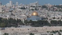 Dome of the Rock Zoom Out Stock Footage