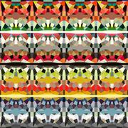 Geometric pattern in multiple color Stock Illustration