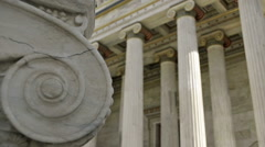 Marble Columns In The Classic Style - stock footage