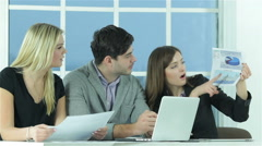 Confident worker business Stock Footage