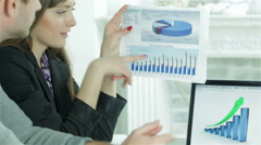 Go to the growth in sales Stock Footage