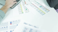 Graphs and Charts - stock footage