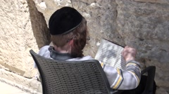 Boy  at the Western wall. Stock Footage
