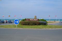 Omaha Beach, Colleville-sur-Mer,  Normandy, France - stock photo