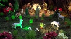 4k Christmas decoration figures Cathedral Funchal Madeira Stock Footage