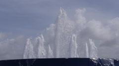 WATERFRONT PASSIVE RECREATIONAL PARK - Bahia Urbana Water Fountain 4 Stock Footage