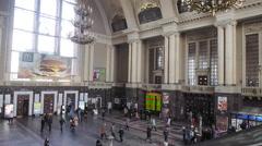Central Railway station in Kyiv, Ukraine Stock Footage