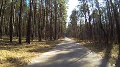 Biking Rider's Perspective on country road Stock Footage