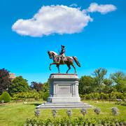 Stock Photo of Boston Common George Washington monument