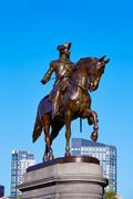 Boston Common George Washington monument - stock photo